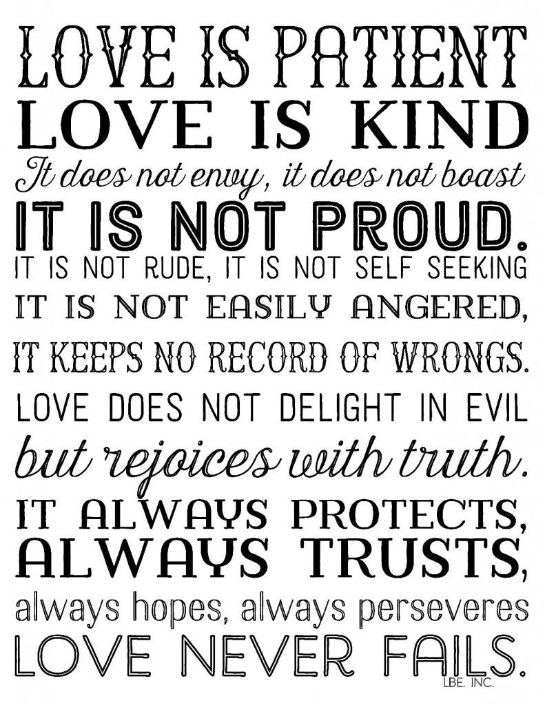 Pinhannah Hough On Scriptures<3 | Quotes, Love Is Patient, Bible - Love Is Patient Free Printable