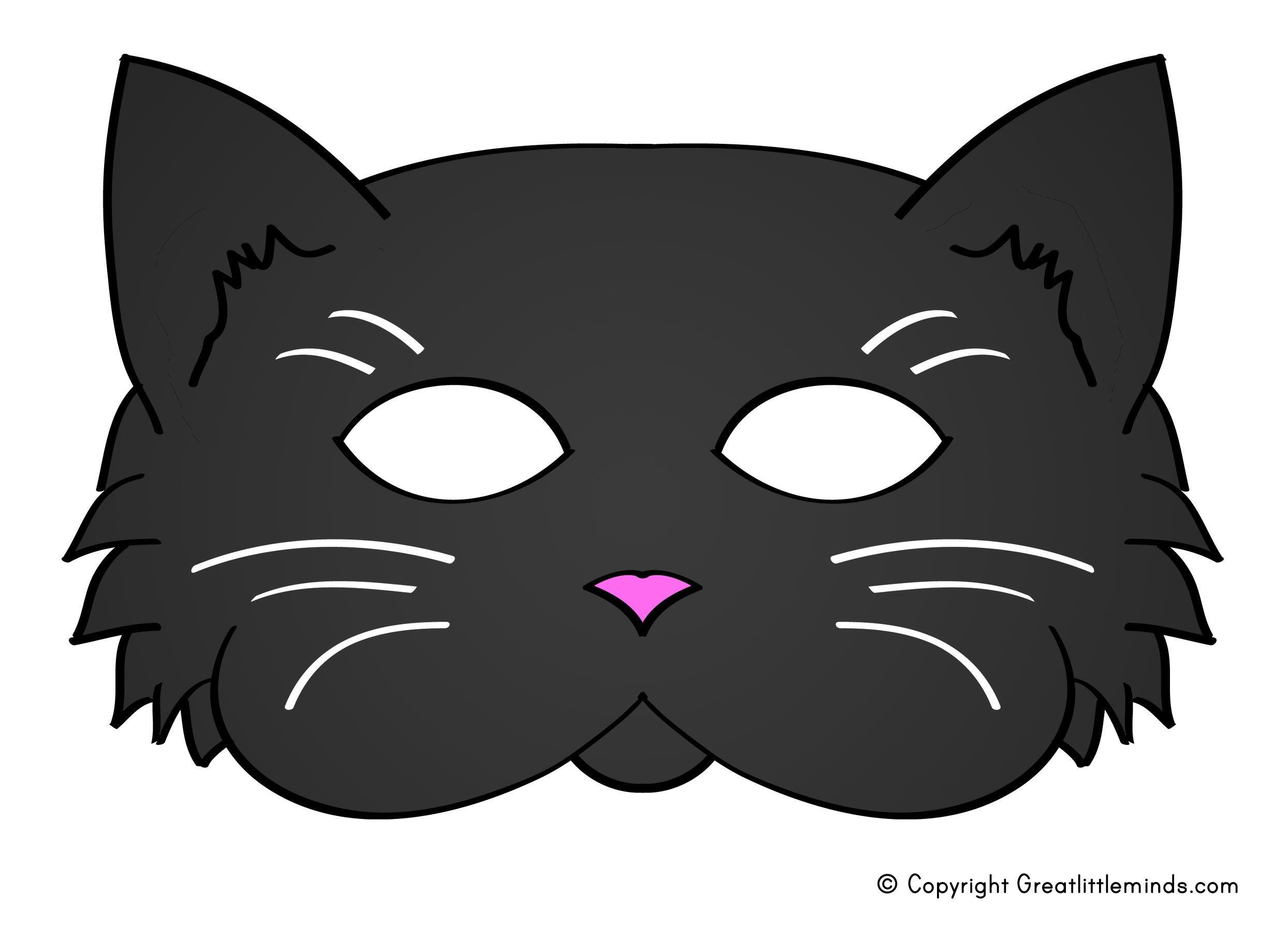 Pinjanell Jakub Brichacek On Ugly Duckling | Cat Mask, Cat Face - Animal Face Masks Printable Free