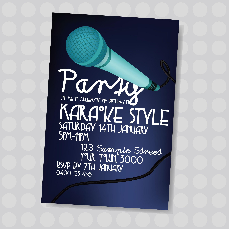 Pinjatnna Tavarez On Invitations & Cards | Karaoke Party - Free Printable Karaoke Party Invitations