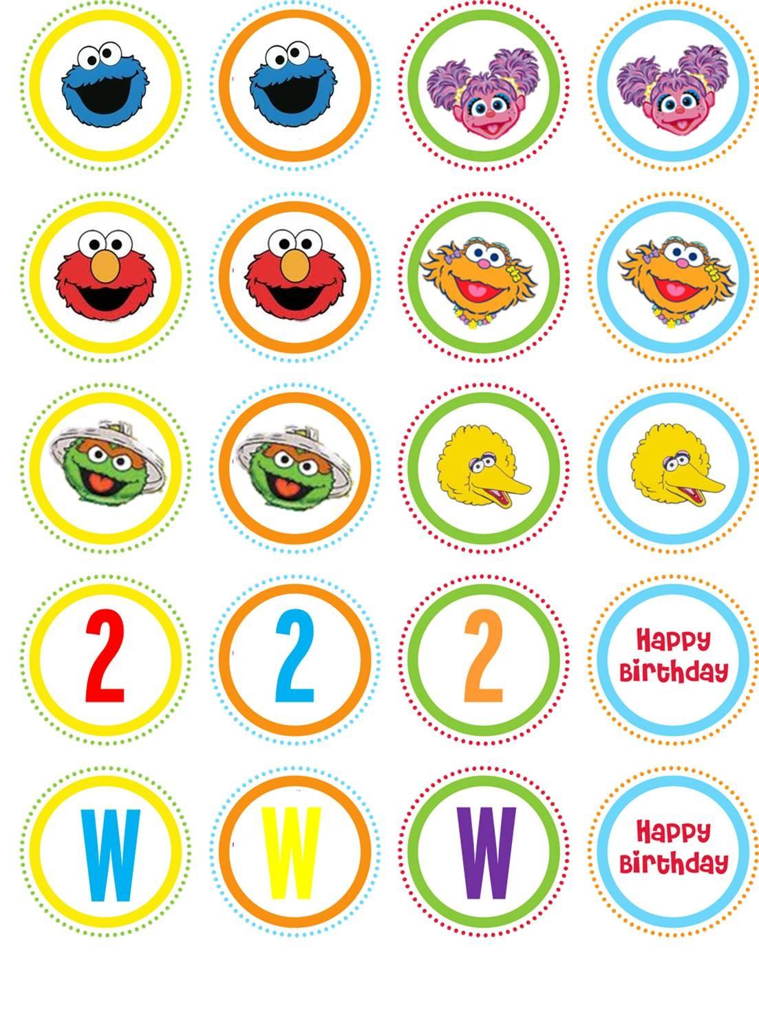 Pinjennifer Mercado On Sesame St   Pinterest - Free Printable Sesame Street Cupcake Toppers