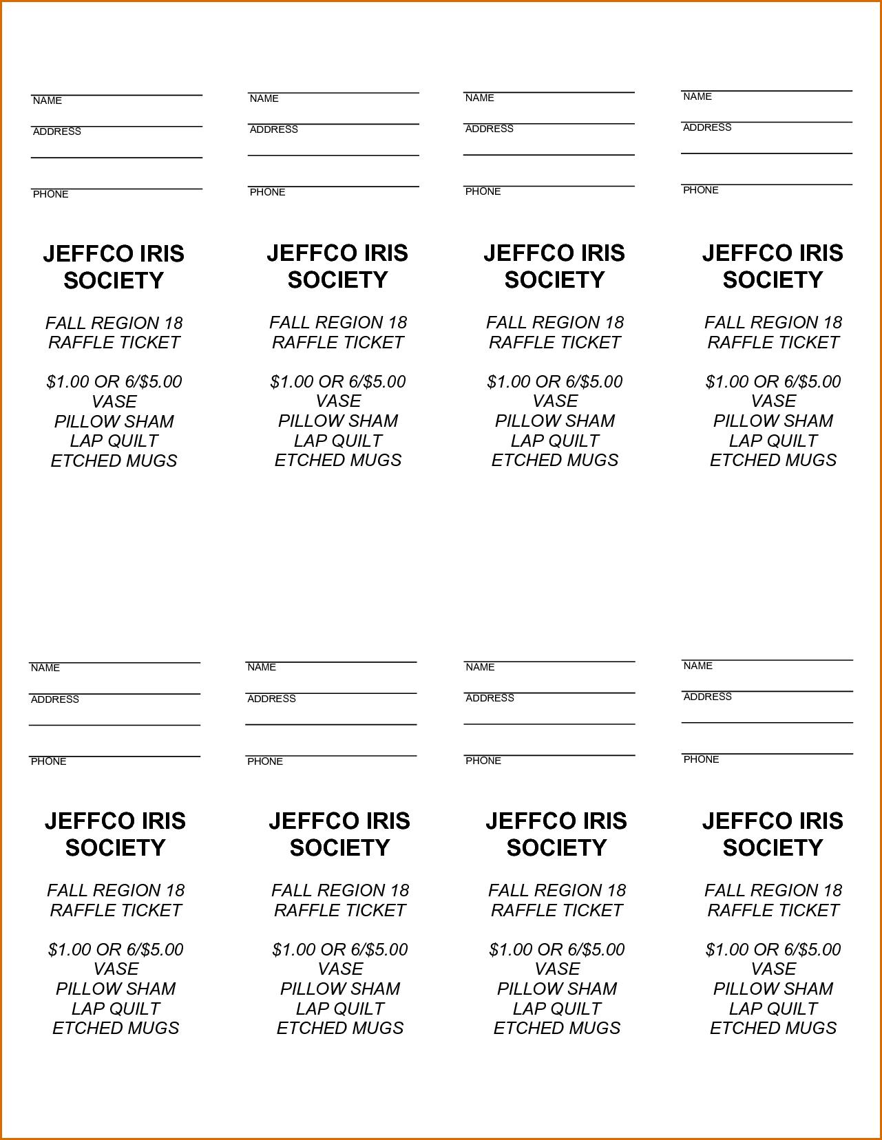 Pinjoanna Keysa On Free Tamplate | Ticket Template, Raffle - Free Printable Raffle Ticket Template Download