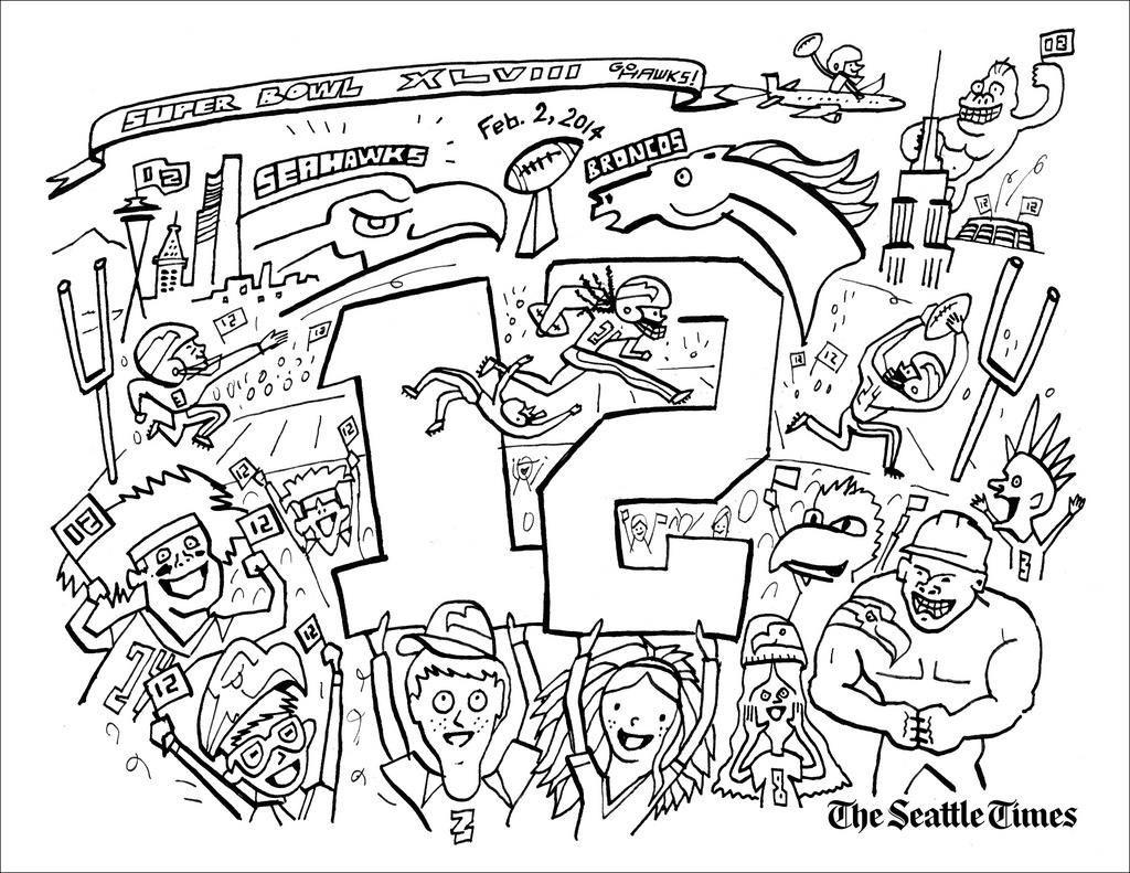 Pinjulia On Colorings | Seattle Seahawks, Seahawks Colors - Free Printable Seahawks Coloring Pages
