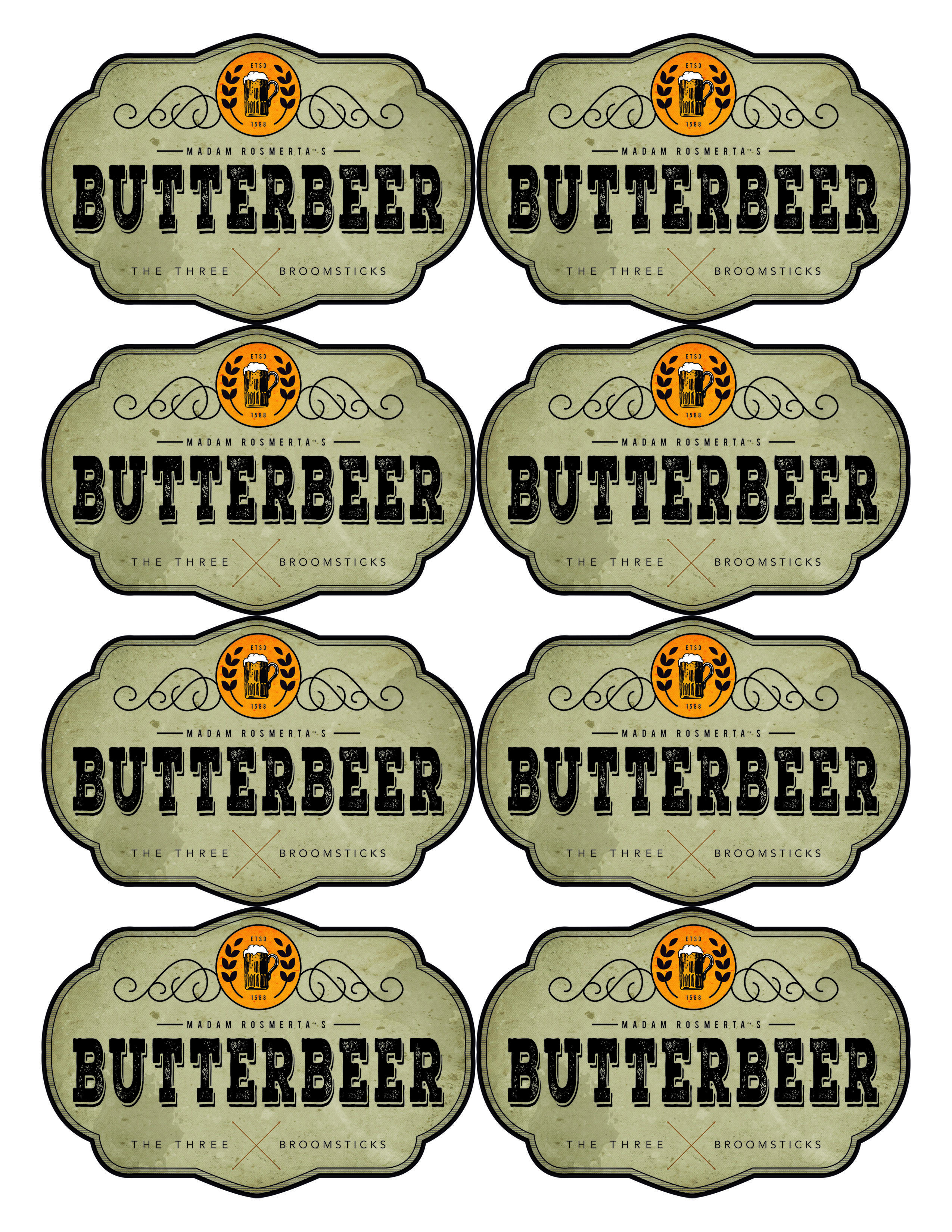 Pinkelly Toy Shoop On Harry Potter In 2019 | Harry Potter Bday - Free Printable Butterbeer Labels