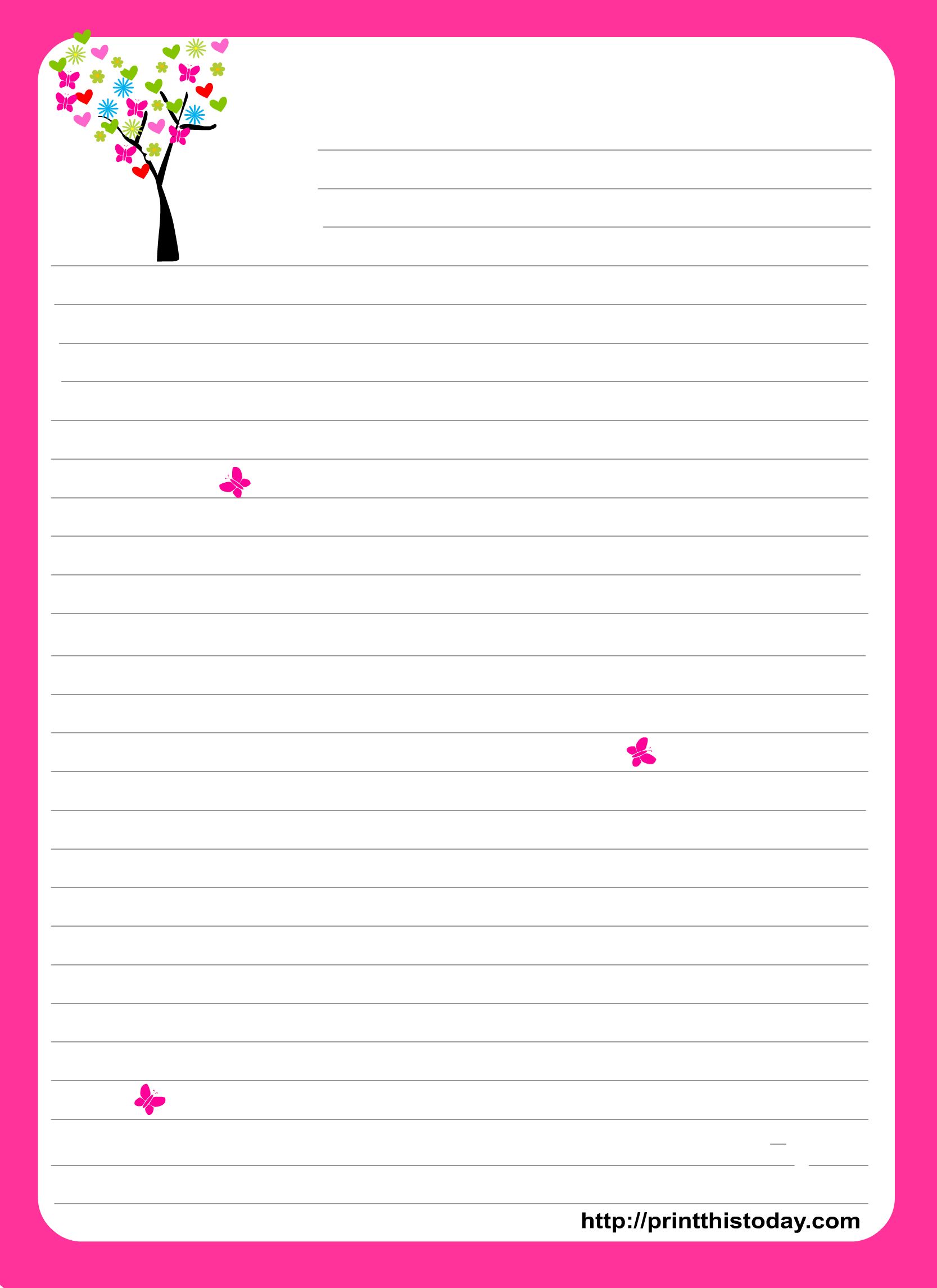 Pinlindsy Fowler On Free Printables   Free Printable Stationery - Free Printable Stationery Writing Paper