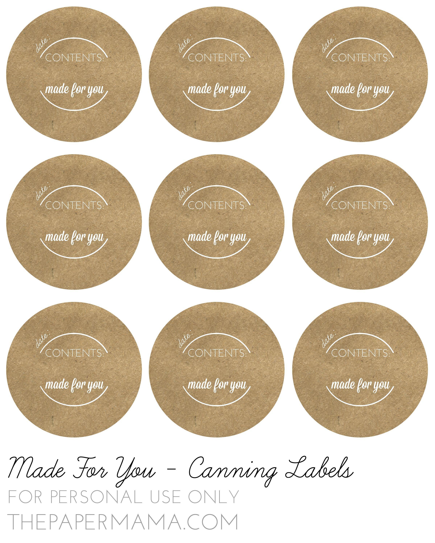 Pinlisa Wirth On Printables | Canning Jar Labels, Jam Jar Labels - Free Printable Mason Jar Labels Template