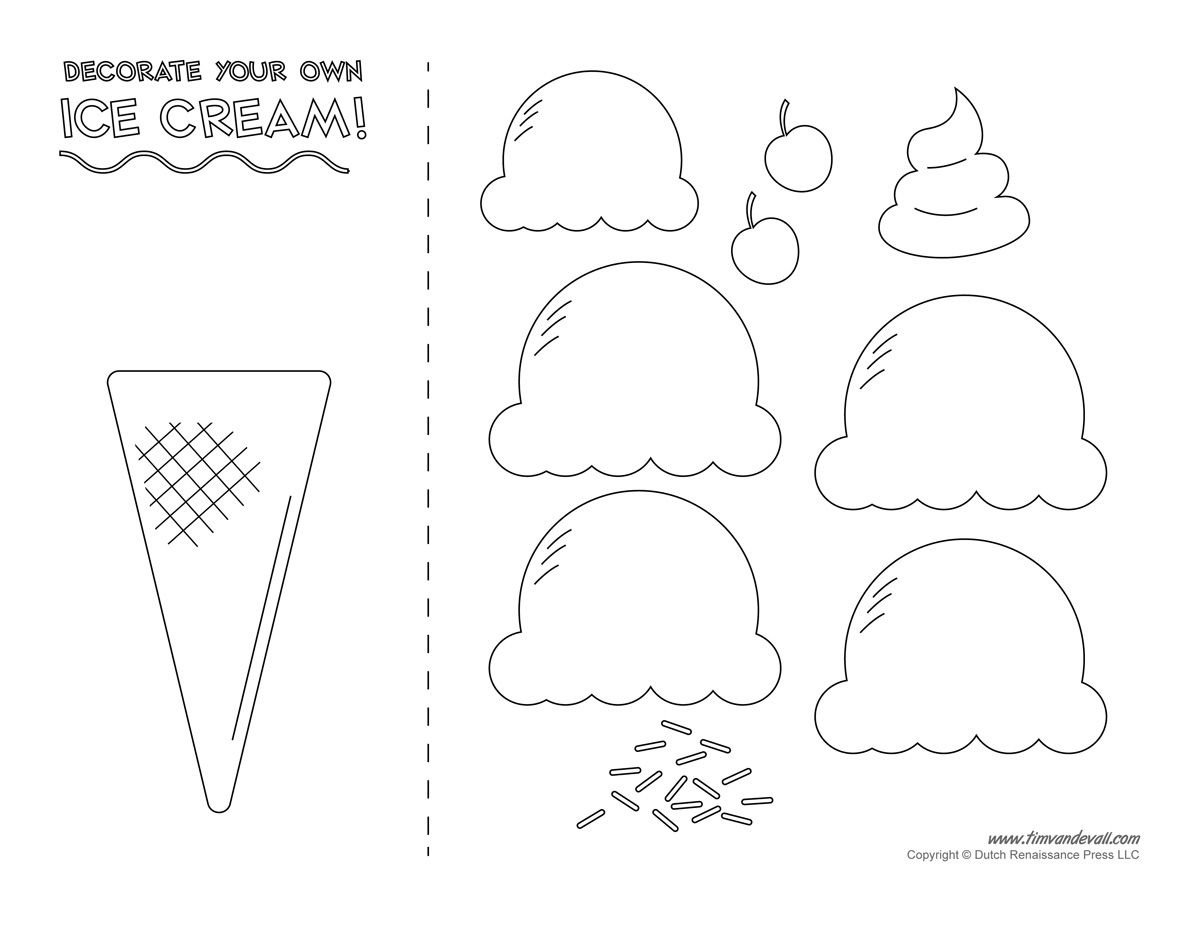 Pinmila Bravo On Ice Cream Decor   Ice Cream Crafts, Ice Cream - Ice Cream Cone Template Free Printable