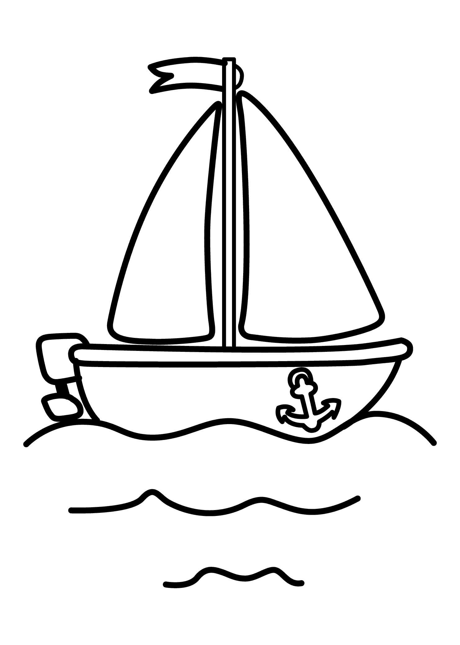 Pinshreya Thakur On Free Coloring Pages   Coloring Pages For - Free Printable Boat Pictures