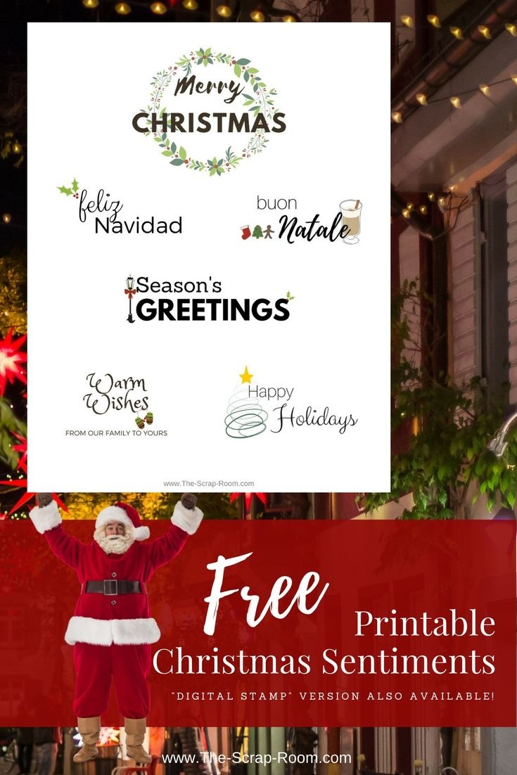Pinthe Scrap Room - Diy & Craft Tutorials On Svg's Printables - Create Your Own Free Printable Christmas Cards