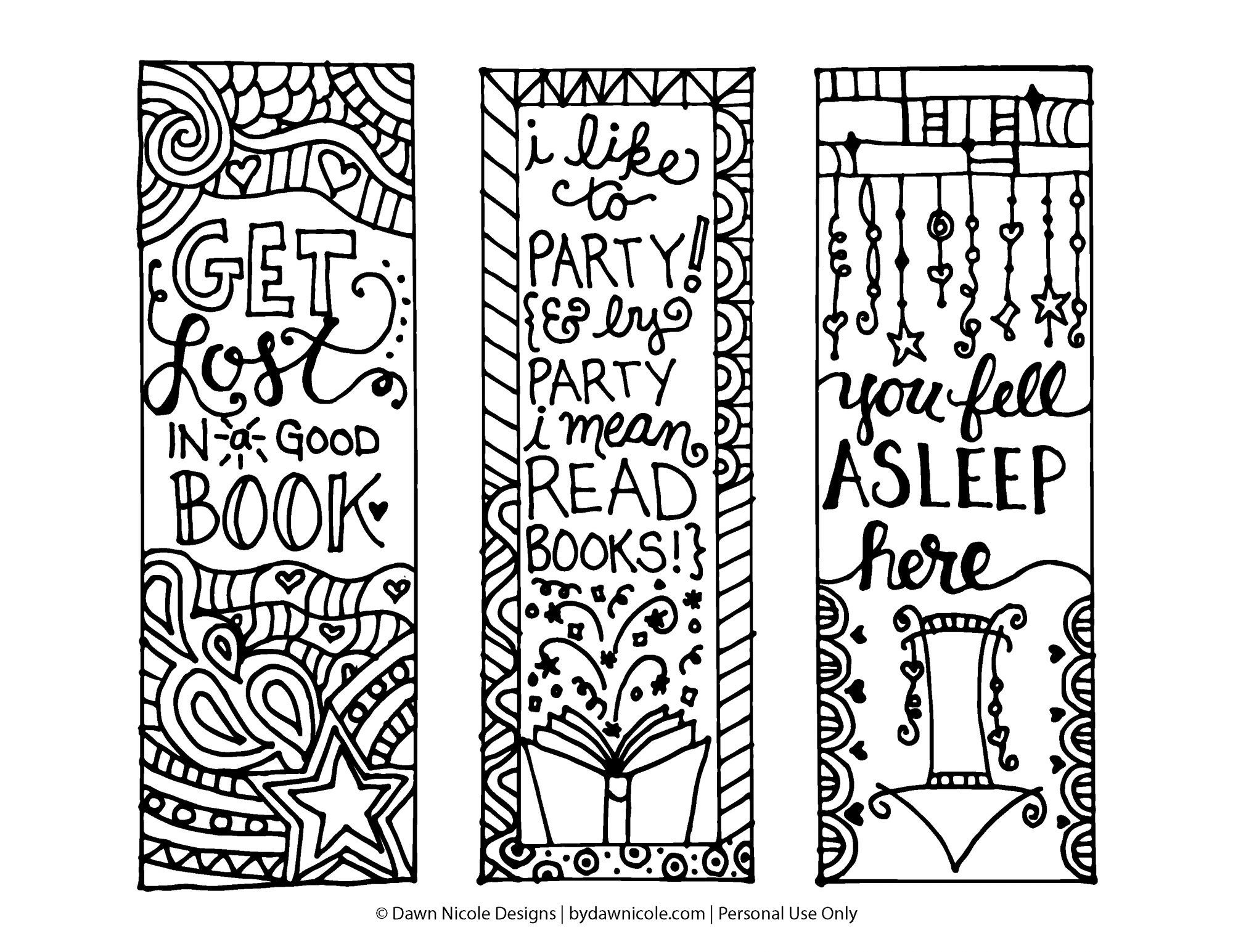 Pinxandra Black On Print Now | Free Printable Bookmarks, Adult - Free Printable Bookmarks To Color