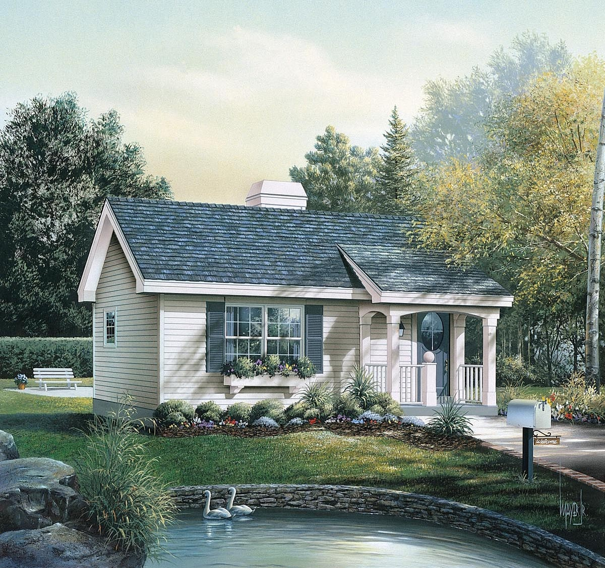 Plan 86955 - Cabin House Plan With 1 Bed, 1 Bath - Free Printable Small House Plans