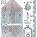 Plastic Canvas Free Santa Pattern | Gingerbread Goodie House   Printable Plastic Canvas Patterns Free Online