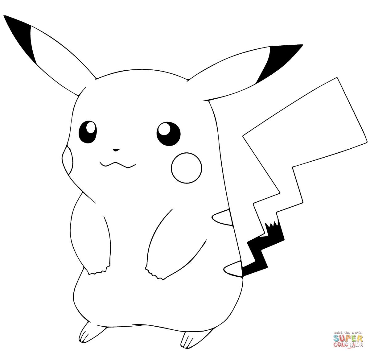 Pokémon Go Pikachu Coloring Page   Free Printable Coloring Pages - Free Printable Coloring Pages Pokemon Black White