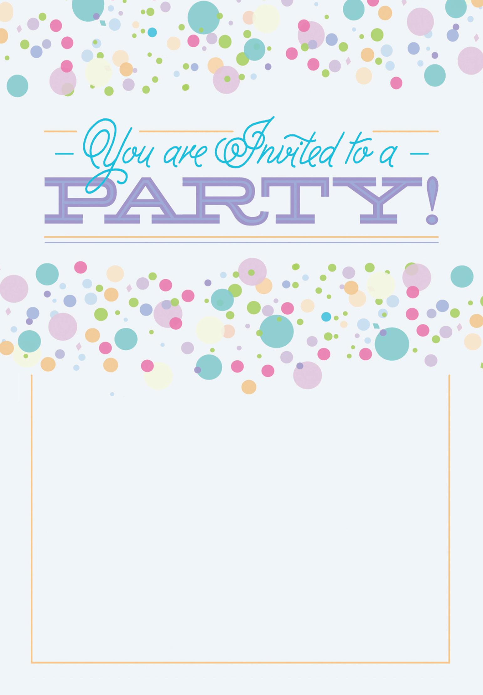 Polka Dots - Free Printable Party Invitation Template | Greetings - Free Printable Polka Dot Birthday Party Invitations