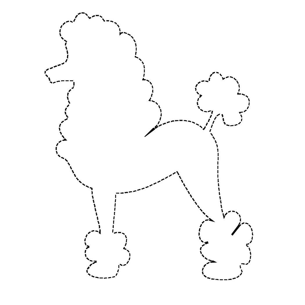 Poodle Skirts Colouring Pages Picture | I Need To Make | Poodle - Free Printable Poodle Template