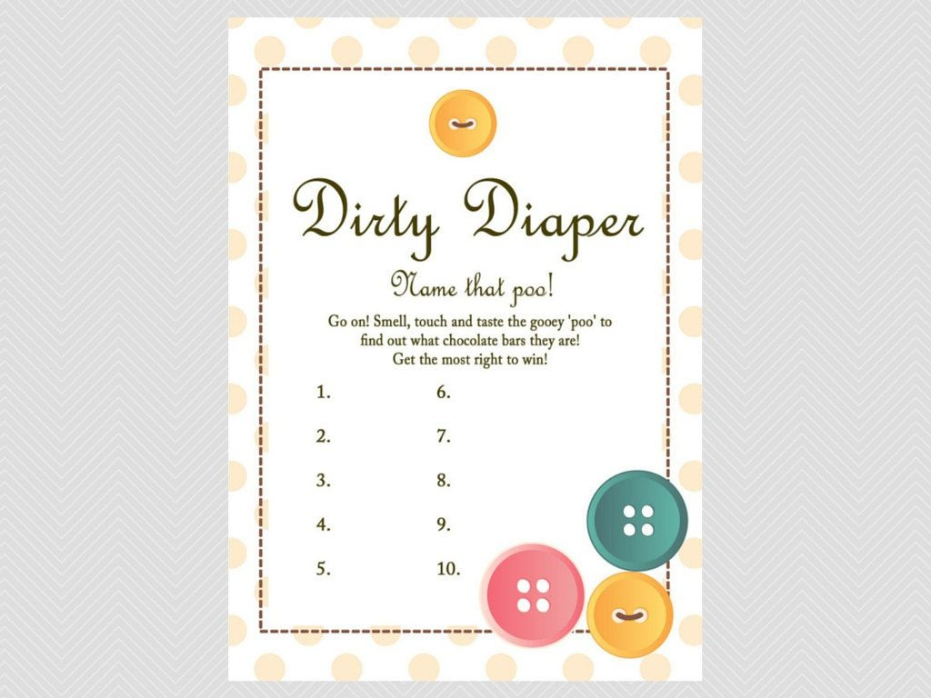 Poopy Diaper Game Template - Google Search   Baby Shower Ideas - What's In The Diaper Bag Game Free Printable