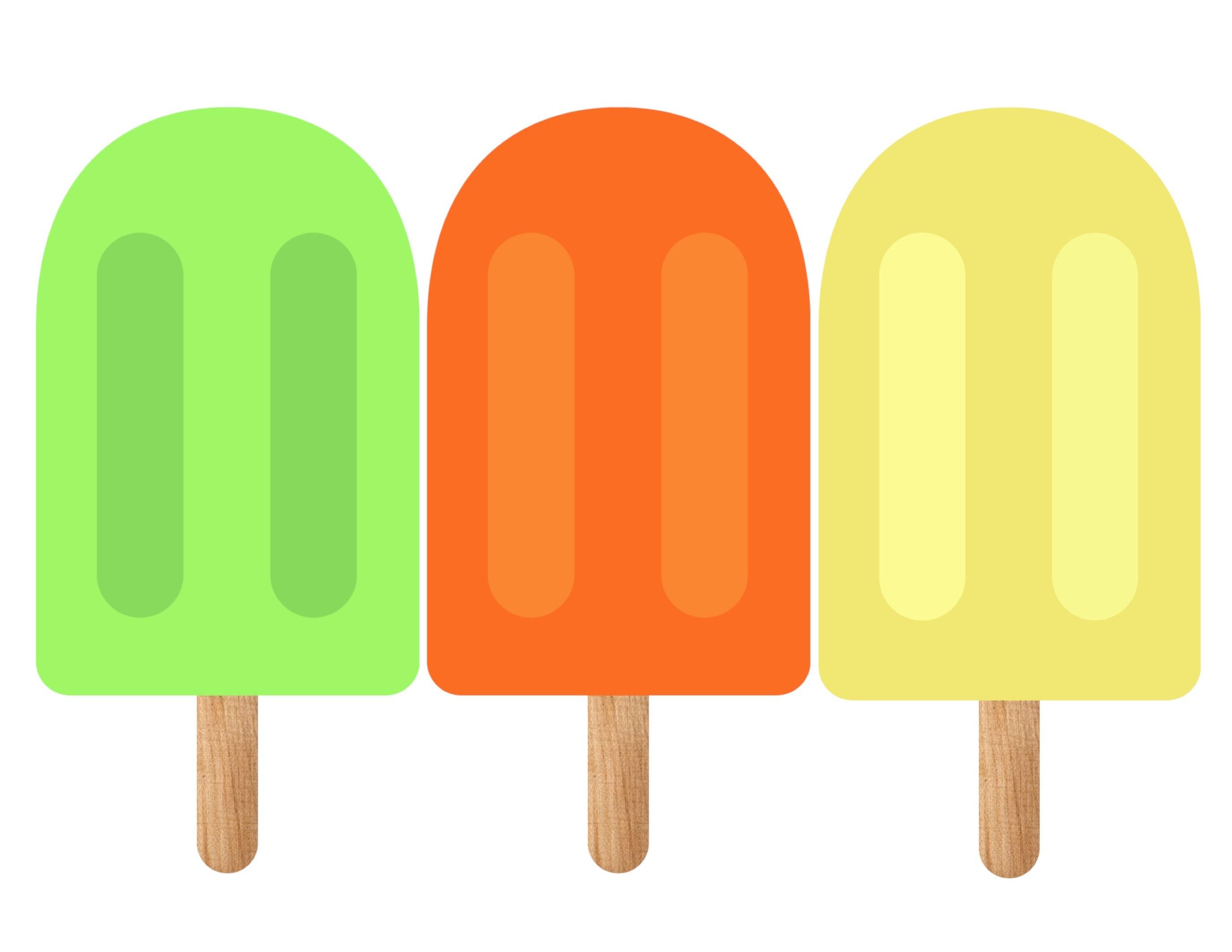 Popsicle Summer Banner Decor Free Printable - Paper Trail Design - Free Printable Popsicle Template
