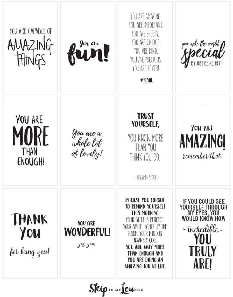 Positive Affirmations {Print And Share With Friends} | Skip To My Lou - Free Printable Positive Affirmation Cards