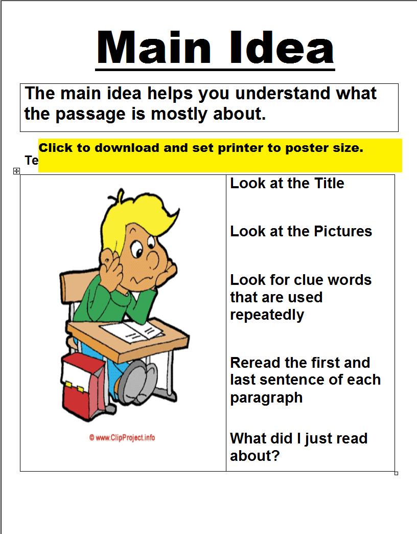 Posters (Printable) - Free Printable Worksheets- Tons Of Free - Free Printable Main Idea Worksheets
