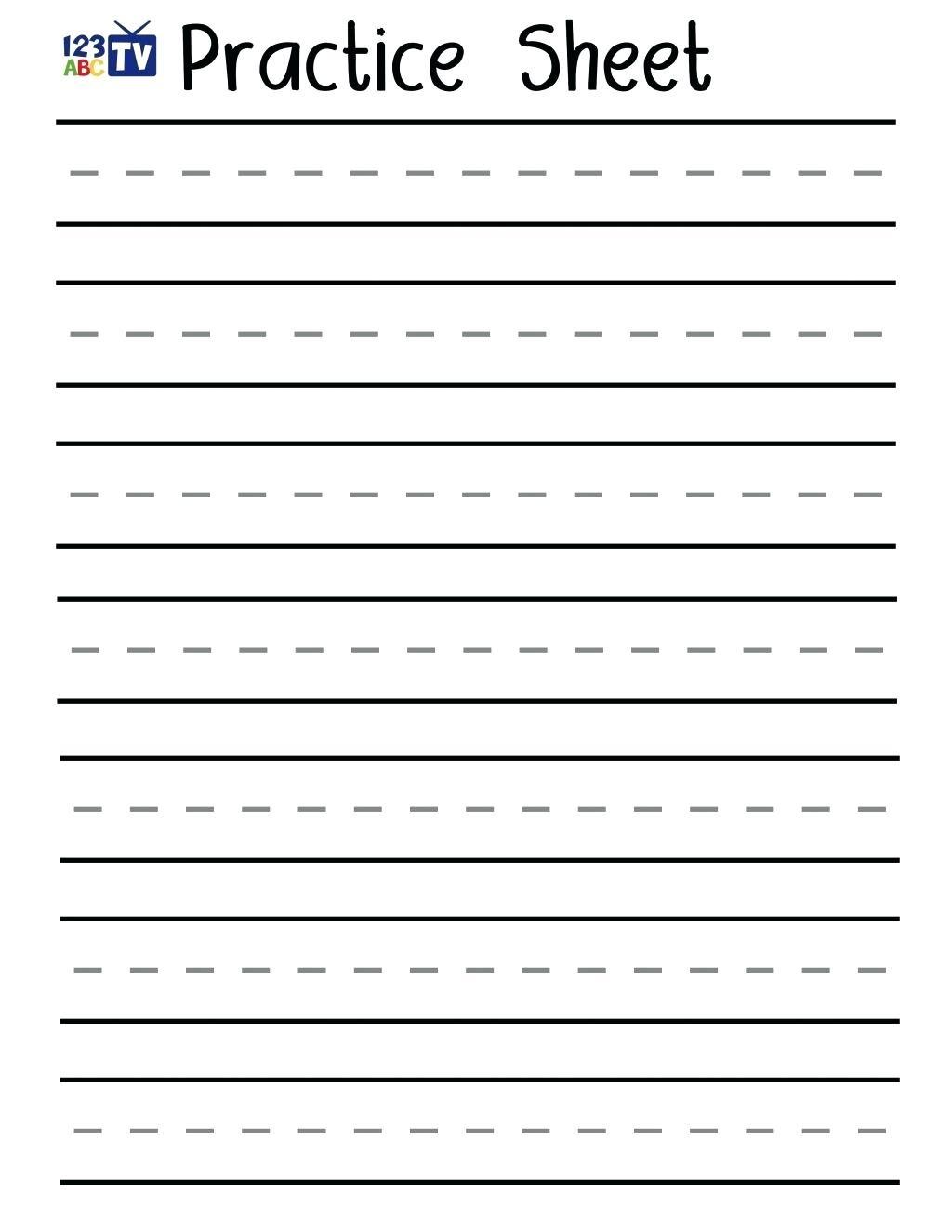 Practice Writing Sheets – Shoppingforu.club - Blank Handwriting Worksheets Printable Free