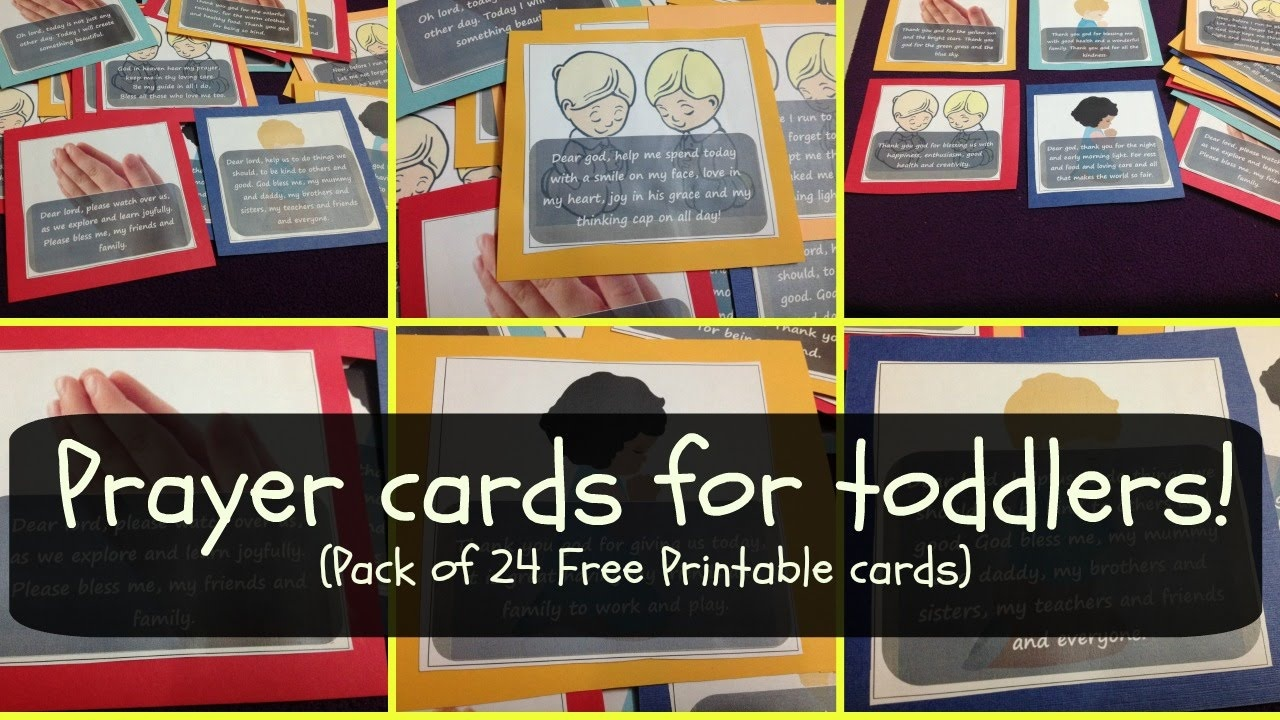 Prayer Cards For Toddlers & Preschoolers (W Free Printable Pack - Free Printable Prayer Cards