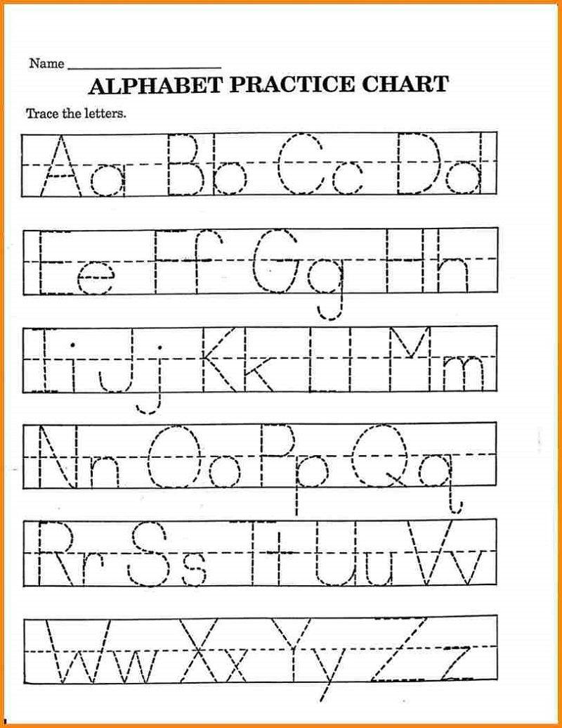 Pre K Math Worksheets Alphabet – Learning Printable   Preschool - Free Printable Pre K Activities