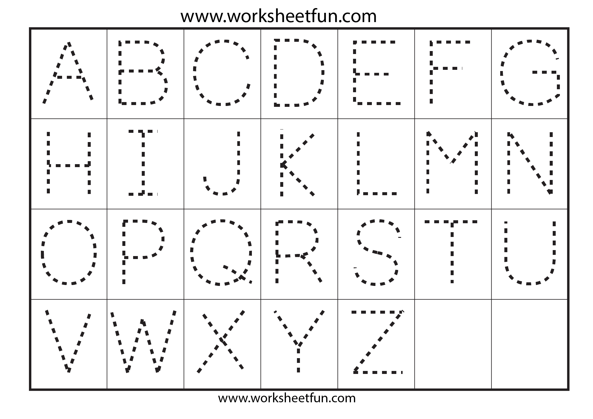 Preschool Worksheets Alphabet Tracing Letter A | Art | Alphabet - Free Printable Preschool Worksheets Tracing Letters