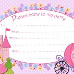 Princess Birthday Invitations Template Free   Kaza.psstech.co   Free Printable Princess Invitations