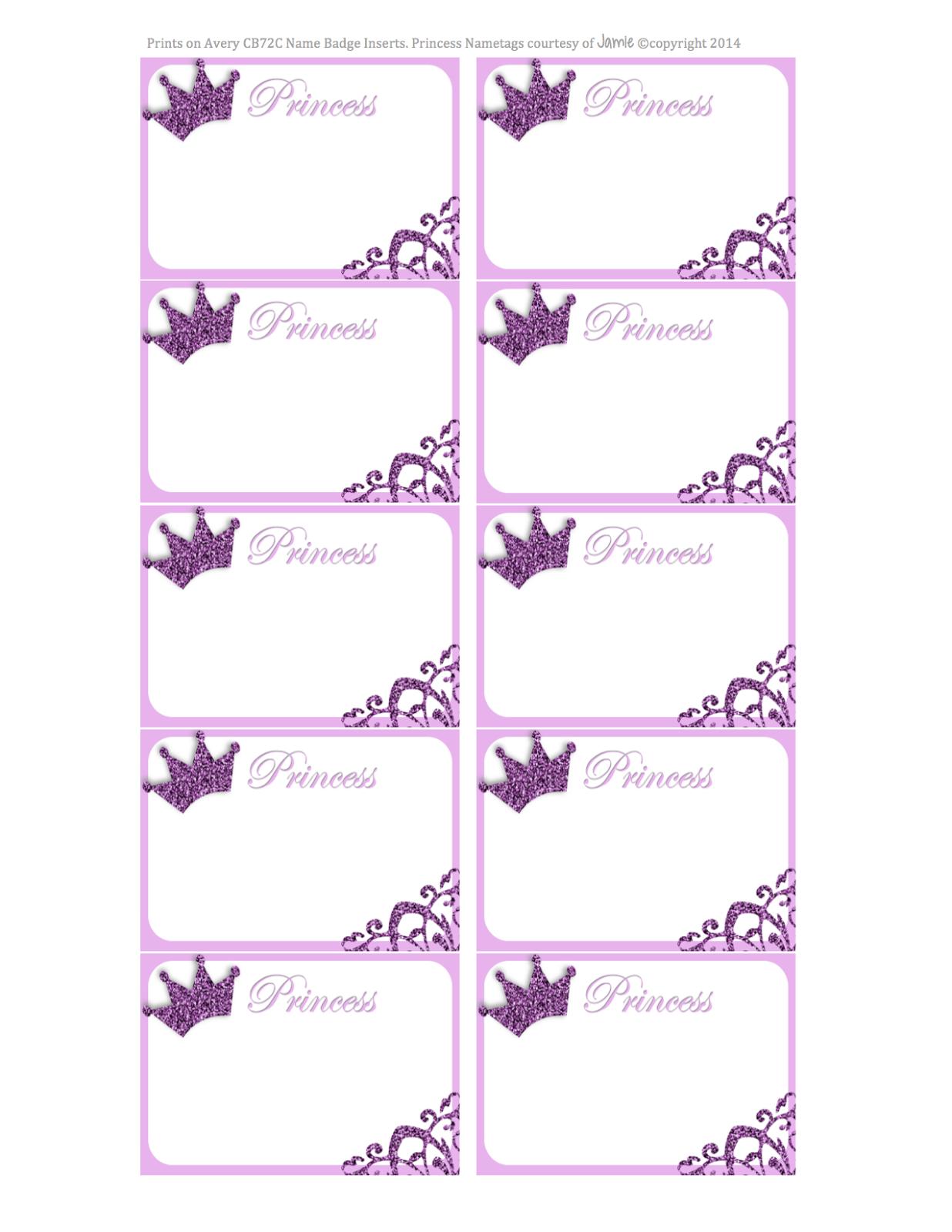 Princess Labels - Free Printable | Kids | Printable Labels - Hello Kitty Name Tags Printable Free