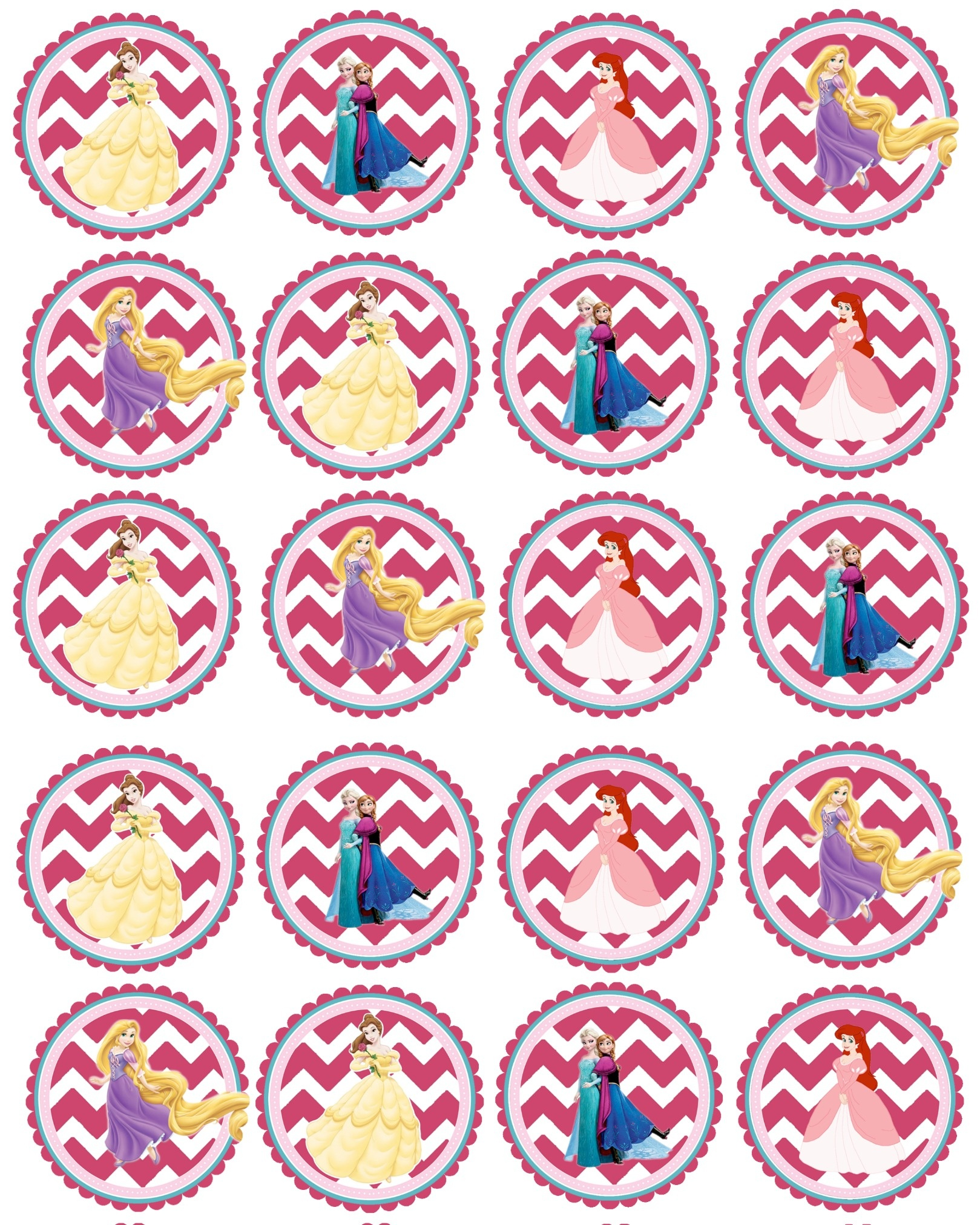 Princess Party-Free Printable - Free Printable Princess Birthday Banner