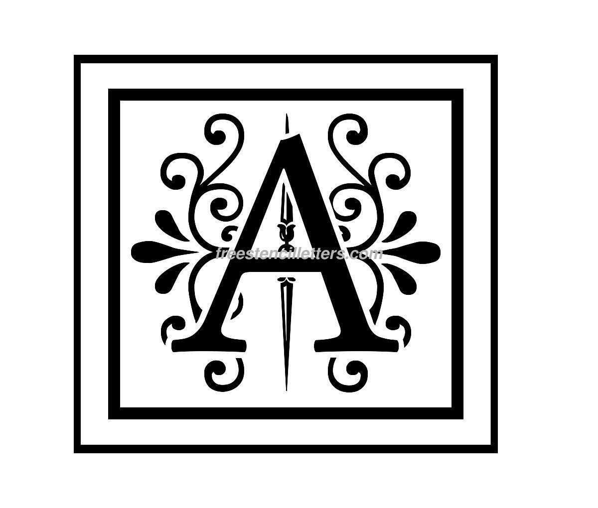 Print A Letter Stencil - Free Stencil Letters - Free Printable Monogram Letters
