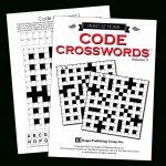 Print At Home Code Crosswords – Kappa Puzzles   Free Printable Variety Puzzles