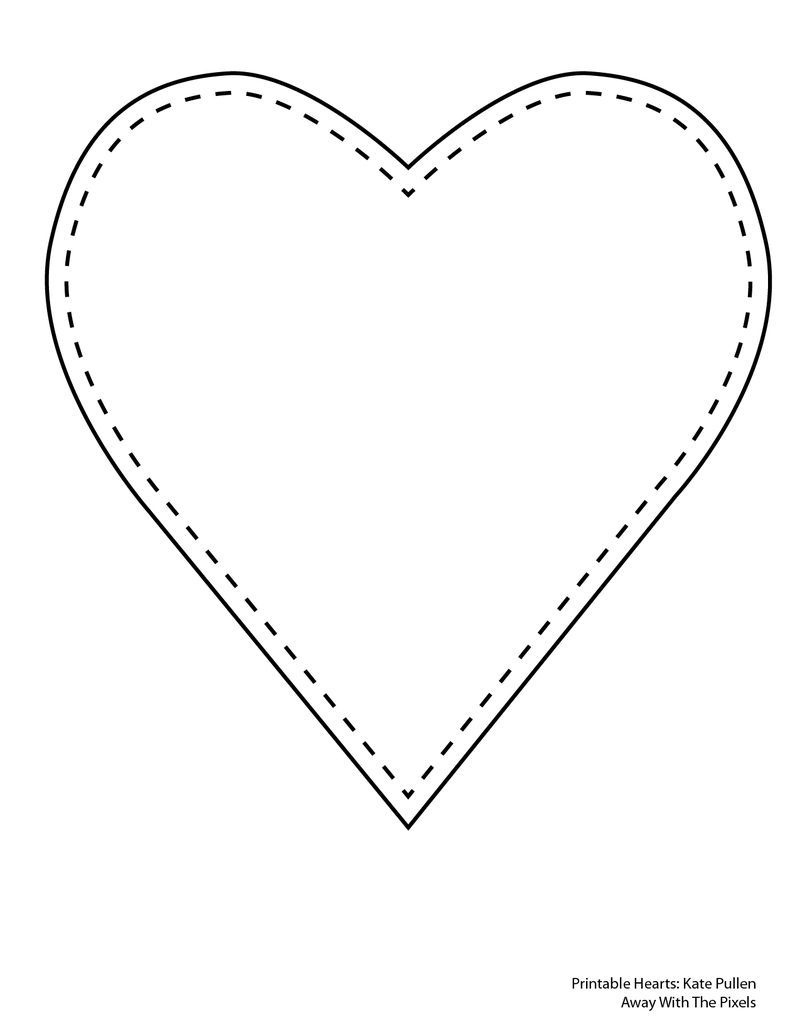 Print Out These 6 Sweet And Free Heart Templates | Paper | Heart - Free Printable Hearts