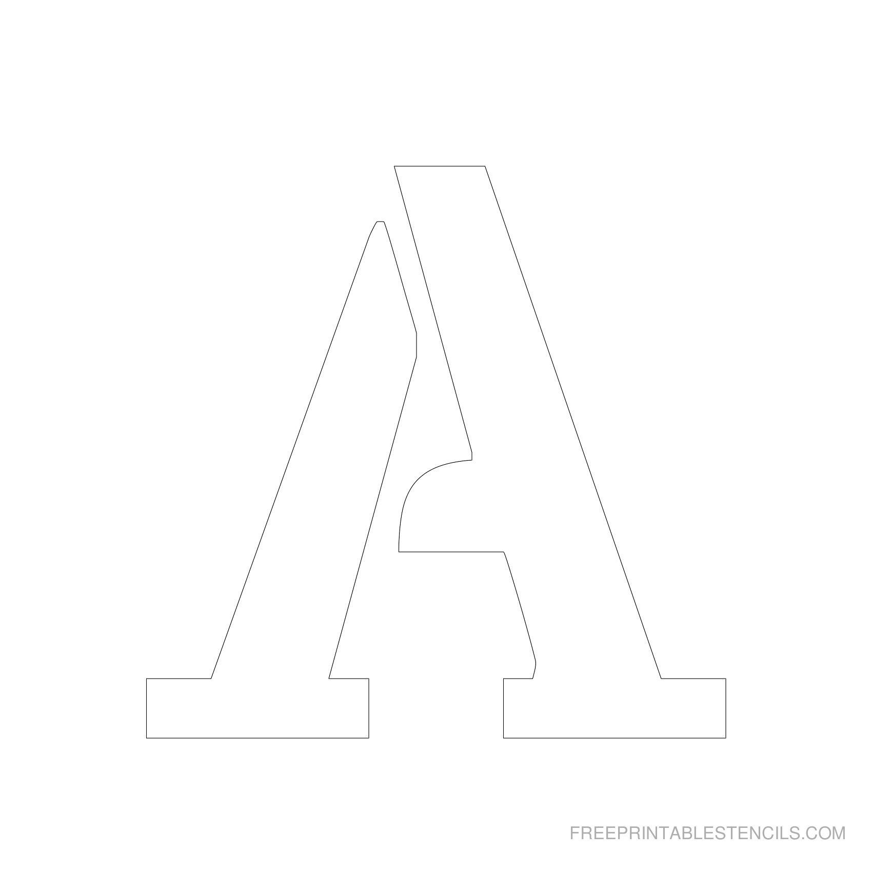 Printable 5 Inch Letter Stencil A Other Stencils As Well | Arts And - Free Printable 5 Inch Number Stencils