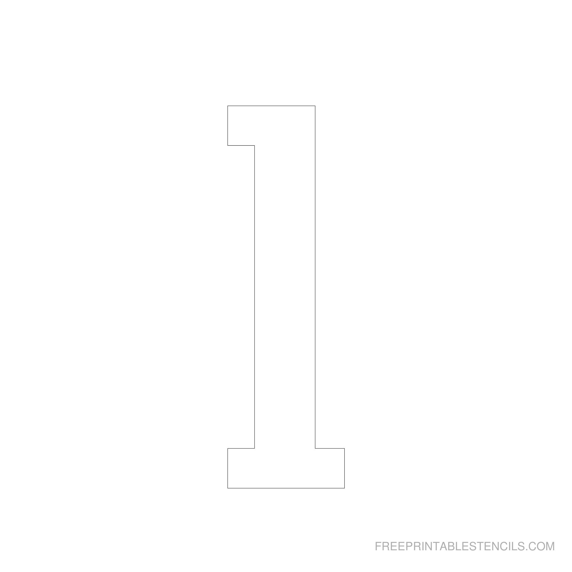 Printable 6 Inch Number Stencils 1-10 | Free Printable Stencils - Free Printable 5 Inch Number Stencils