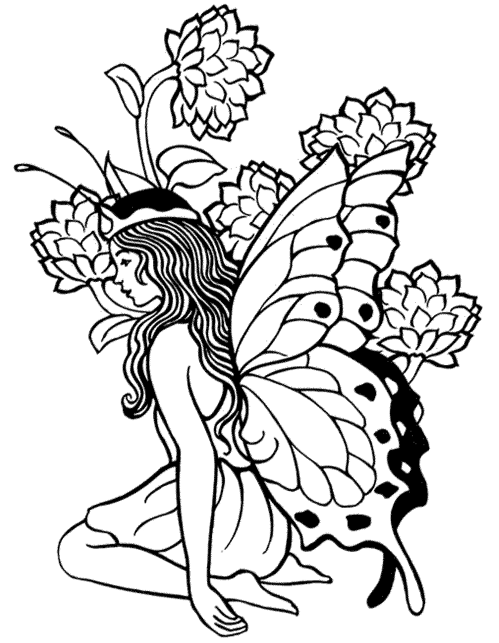 Printable Adult Coloring Pages Fairy - Coloring Home - Free Printable Coloring Pages For Adults Dark Fairies