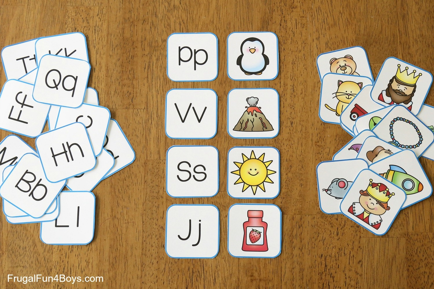 Printable Alphabet Memory Game Cards - Frugal Fun For Boys And Girls - Free Printable Alphabet Games
