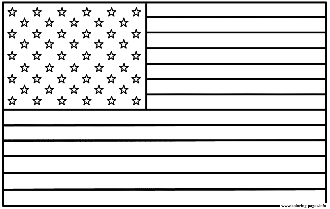 Printable American Flag Images | Free Download Best Printable - Free Printable American Flag Coloring Page