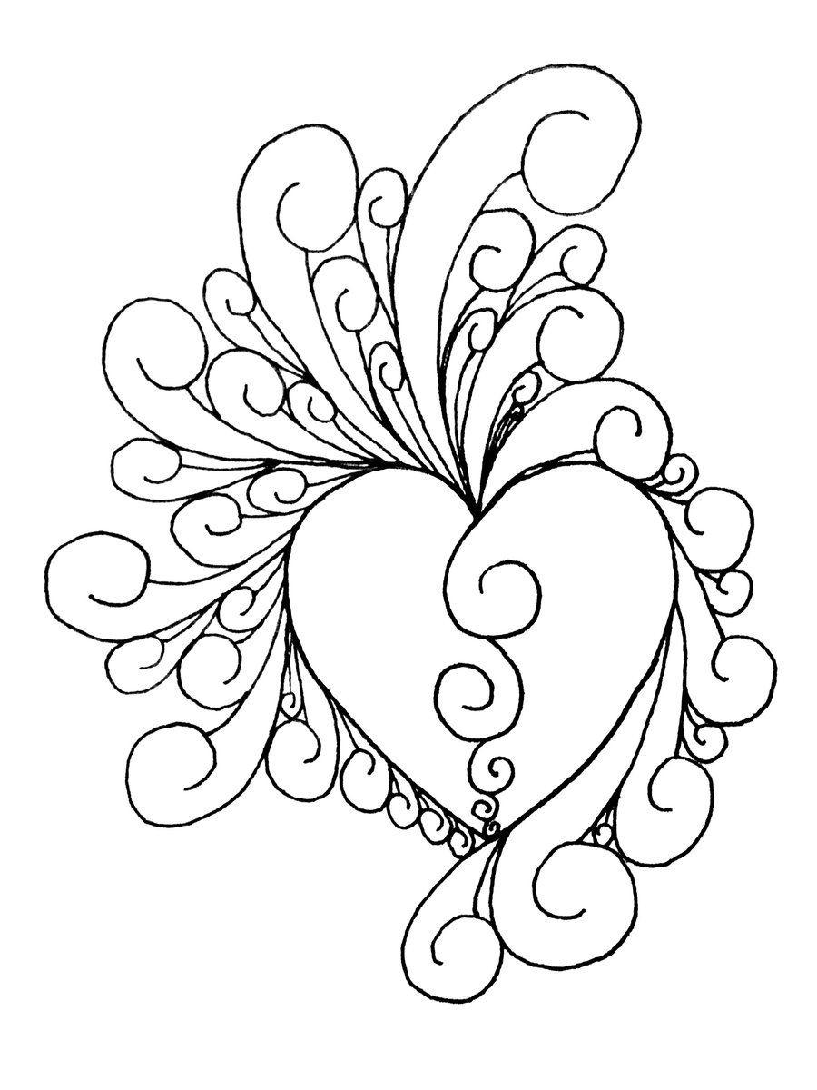 Printable Art Work | Heart Of Intricate~Shinobitokobot On - Free Printable Quilling Patterns Designs