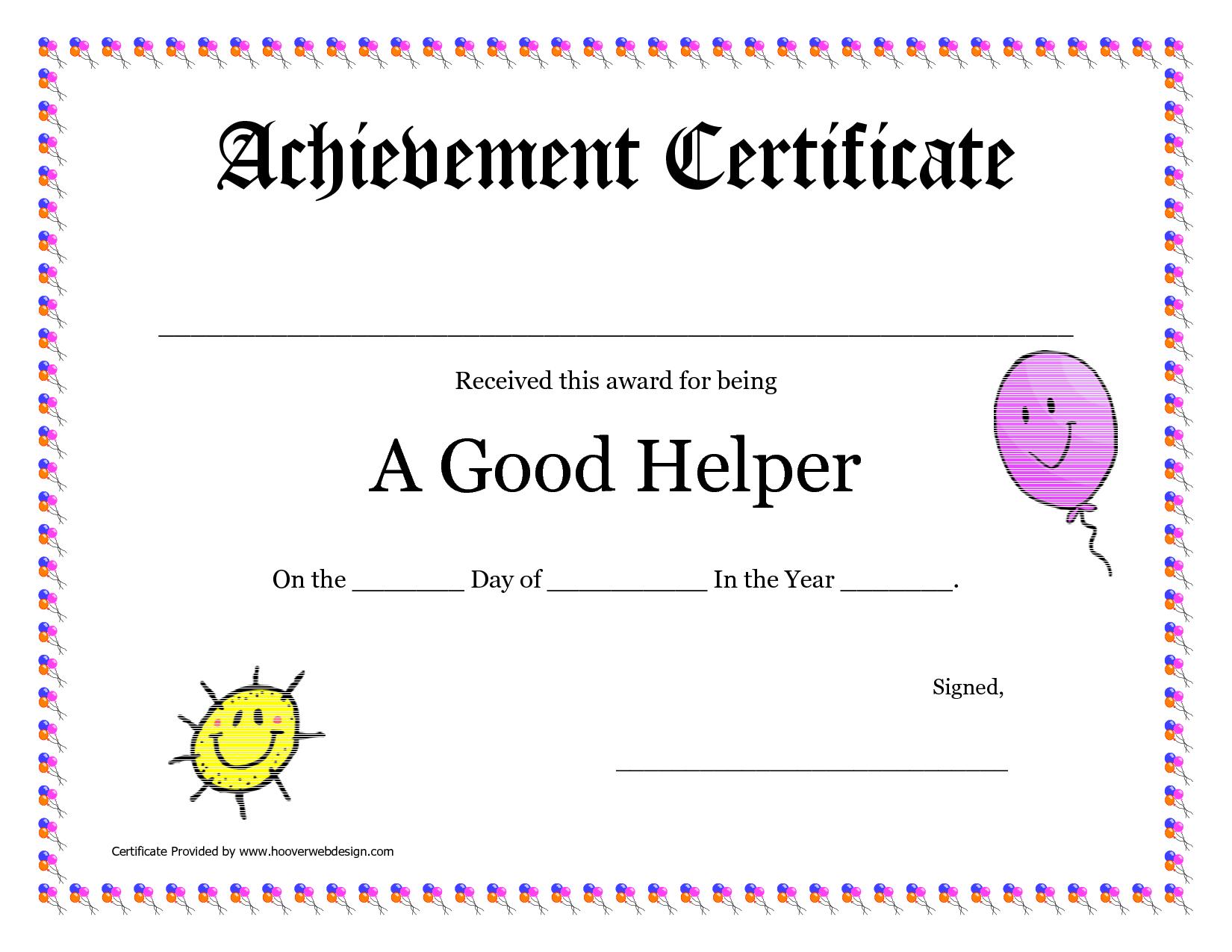 Printable Award Certificates For Teachers | Good Helper Printable - Free Printable Student Award Certificate Template