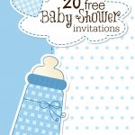 Printable Baby Shower Invitations   Free Printable Book Themed Baby Shower Invitations