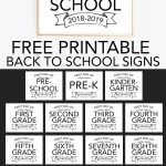 Printable Back To School Signs   Print Our Free First Day Of School   Free Printable Back To School