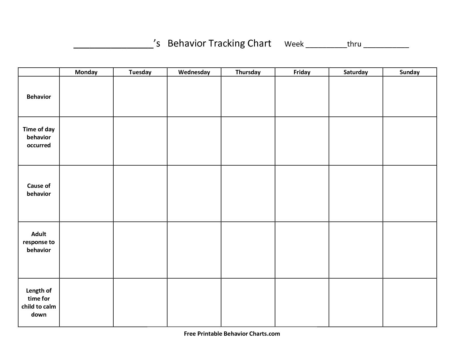 Printable Behavior Charts For Teachers | Room Surf - Free Printable Reward Charts For Teenagers
