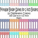 Printable Binder Spine Pack Size 2 Inch 12 Different Colors In   Free Printable Binder Covers And Spines