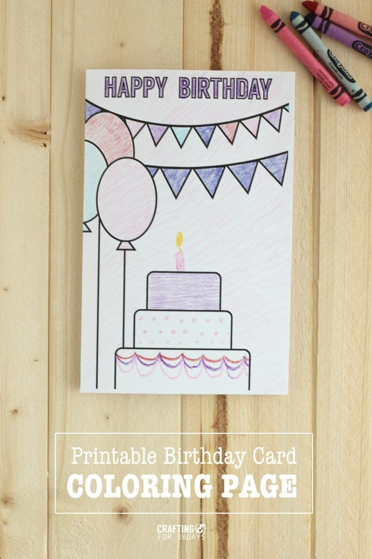 Printable Birthday Coloring Pages | Printables | Coloring Birthday - Free Printable Funny Birthday Cards For Dad