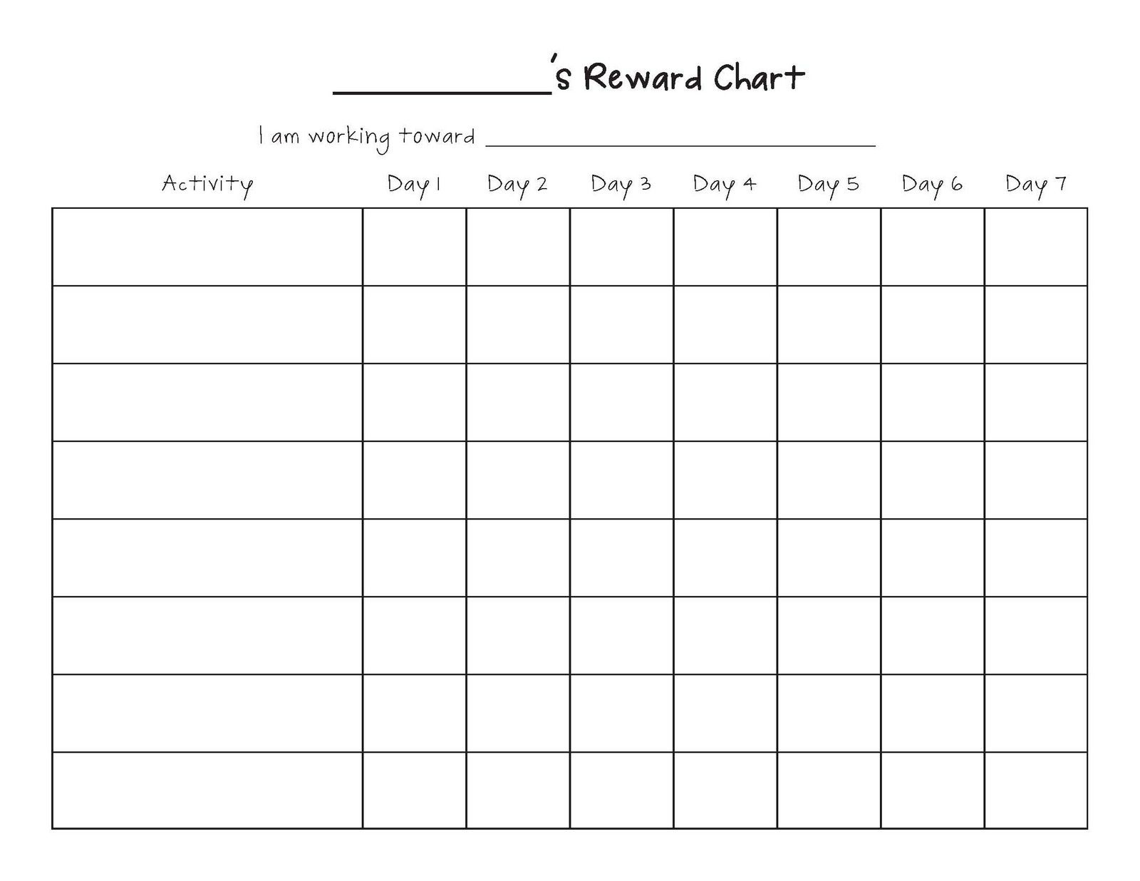Printable Blank Charts | Ellipsis - Free Printable Charts And Lists