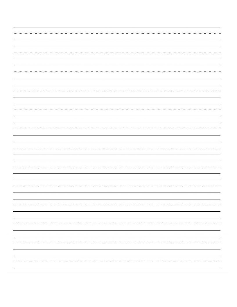 Printable Blank Writing Worksheet   Education   Writing Practice - Blank Handwriting Worksheets Printable Free