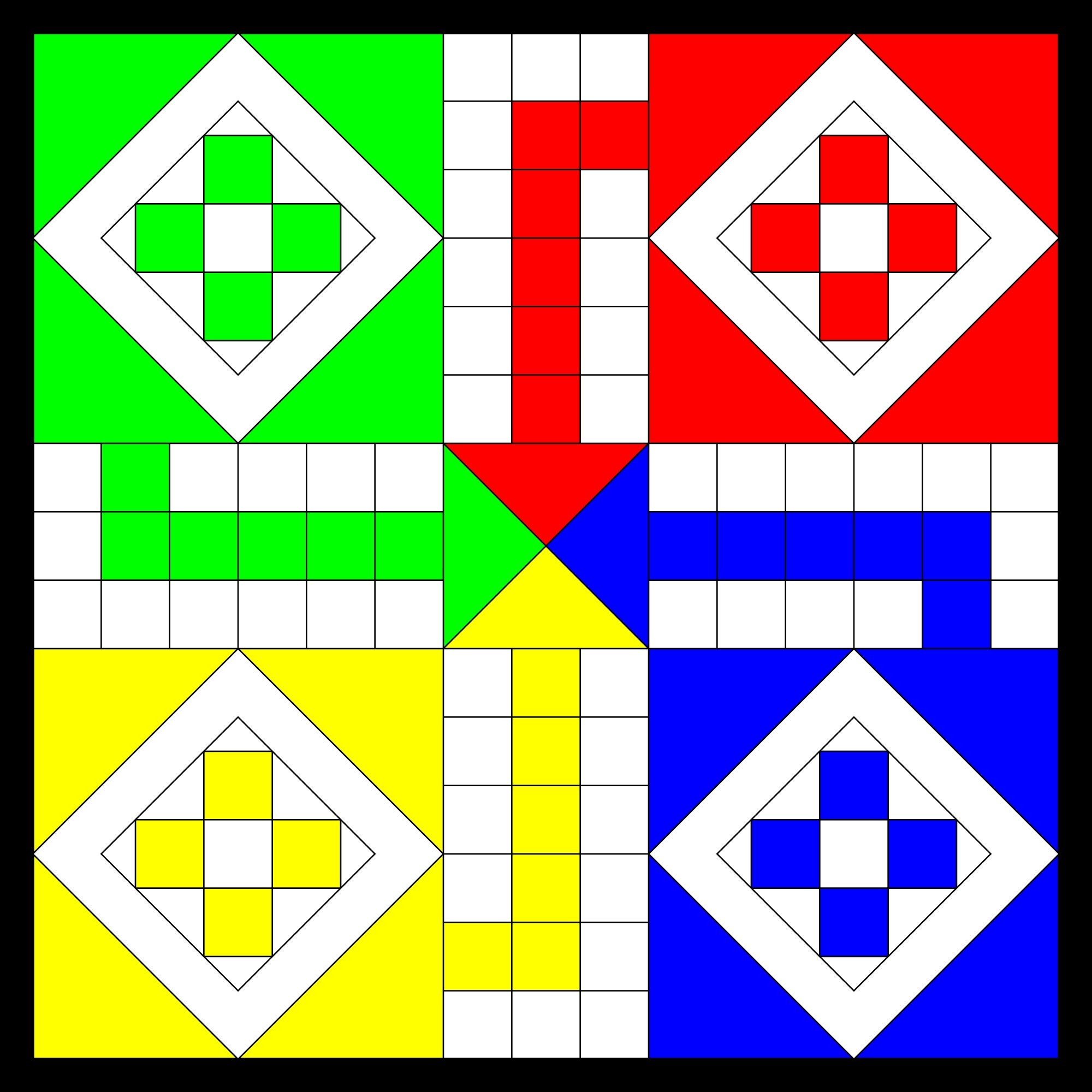 Printable Board Games - Best Coloring Pages For Kids - Free Printable Ludo Board