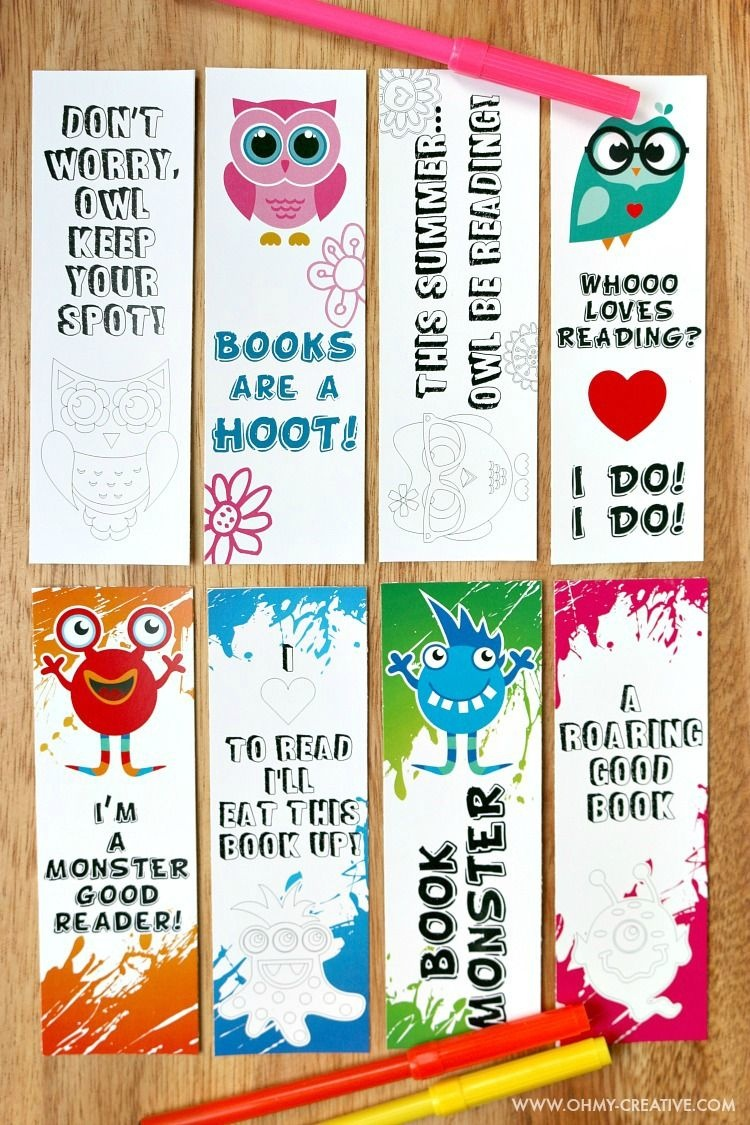 Printable Bookmark Coloring Pages For Kids | Raising Kids | Free - Free Printable Owl Bookmarks