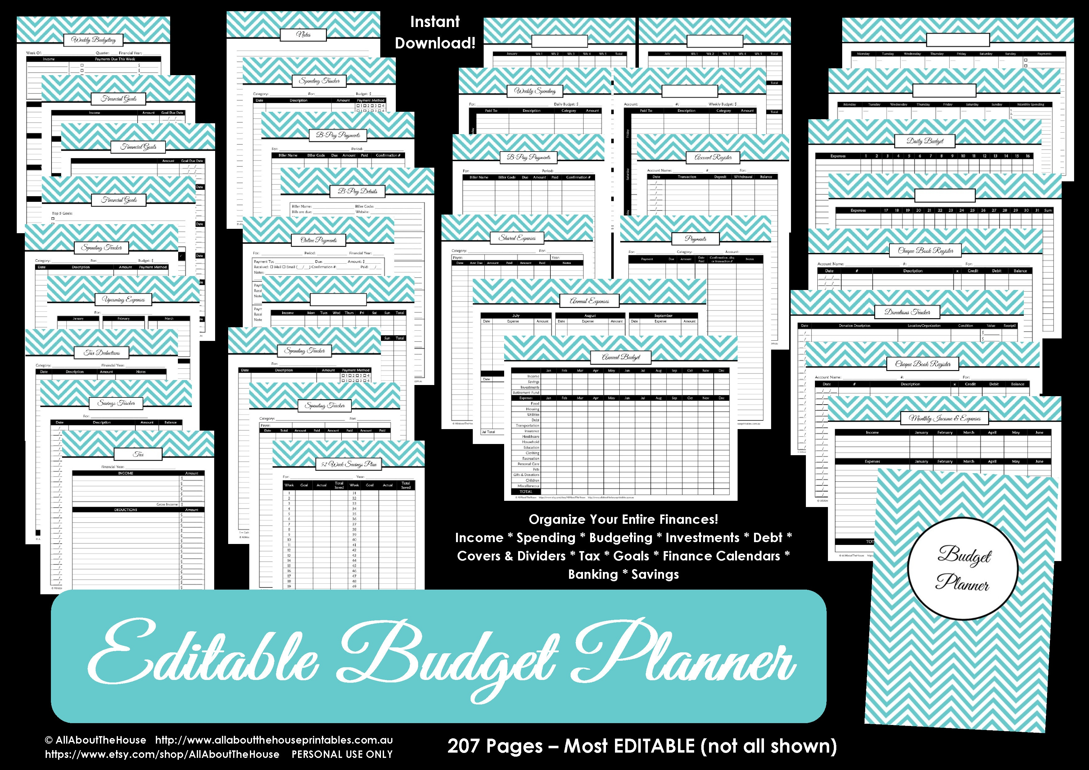 Printable Budget Planner/finance Binder Update - All About Planners - Free Printable Financial Binder