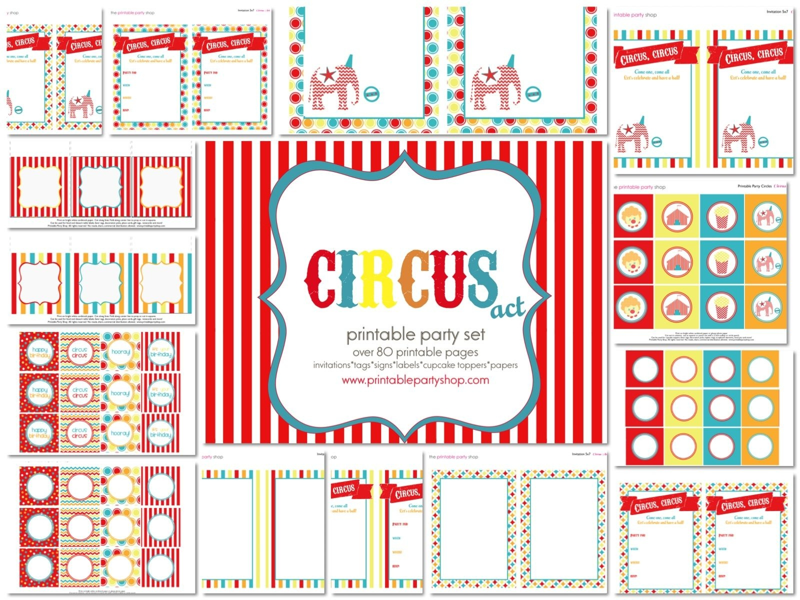 Printable Carnival Signs | 7 Best Images Of Free Vintage Circus - Free Printable Party Signs